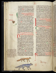 Marginal Drawings Of A Spider, A Wolf, And A Fox, In Gerald of Wales's 'History And Topography Of Ireland'
